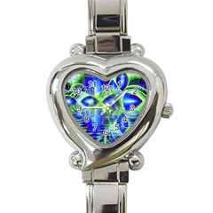 Irish Dream Under Abstract Cobalt Blue Skies Heart Italian Charm Watch  by DianeClancy