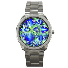 Irish Dream Under Abstract Cobalt Blue Skies Sport Metal Watch by DianeClancy