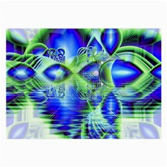Irish Dream Under Abstract Cobalt Blue Skies Glasses Cloth (large, Two Sided) by DianeClancy