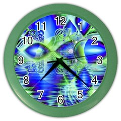 Irish Dream Under Abstract Cobalt Blue Skies Wall Clock (color) by DianeClancy