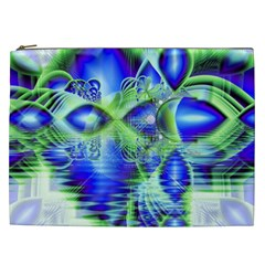 Irish Dream Under Abstract Cobalt Blue Skies Cosmetic Bag (xxl) by DianeClancy
