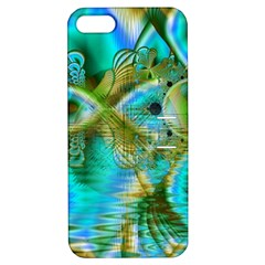 Crystal Gold Peacock, Abstract Mystical Lake Apple Iphone 5 Hardshell Case With Stand by DianeClancy