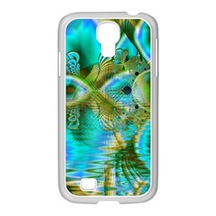 Crystal Gold Peacock, Abstract Mystical Lake Samsung Galaxy S4 I9500/ I9505 Case (white) by DianeClancy
