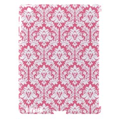 White On Soft Pink Damask Apple Ipad 3/4 Hardshell Case (compatible With Smart Cover) by Zandiepants