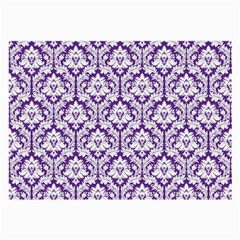 White on Purple Damask Glasses Cloth (Large) by Zandiepants