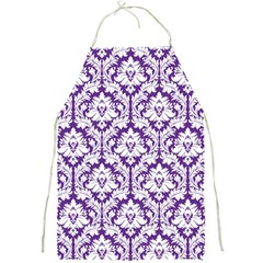 Royal Purple Damask Pattern Full Print Apron by Zandiepants