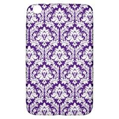 White On Purple Damask Samsung Galaxy Tab 3 (8 ) T3100 Hardshell Case  by Zandiepants
