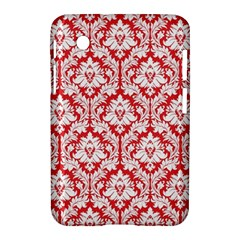 White On Red Damask Samsung Galaxy Tab 2 (7 ) P3100 Hardshell Case  by Zandiepants