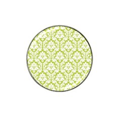 White On Spring Green Damask Golf Ball Marker 10 Pack (for Hat Clip) by Zandiepants