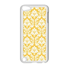 White On Sunny Yellow Damask Apple iPod Touch 5 Case (White) by Zandiepants