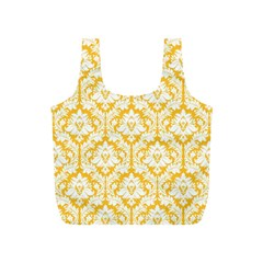 Sunny Yellow Damask Pattern Full Print Recycle Bag (S) by Zandiepants