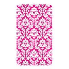 White On Hot Pink Damask Memory Card Reader (Rectangular) by Zandiepants
