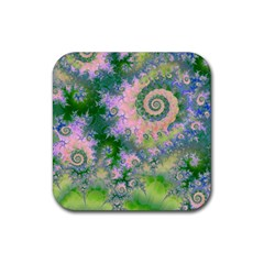 Rose Apple Green Dreams, Abstract Water Garden Drink Coasters 4 Pack (square) by DianeClancy