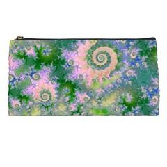 Rose Apple Green Dreams, Abstract Water Garden Pencil Case by DianeClancy