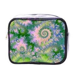 Rose Apple Green Dreams, Abstract Water Garden Mini Travel Toiletry Bag (one Side) by DianeClancy