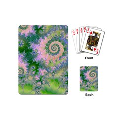 Rose Apple Green Dreams, Abstract Water Garden Playing Cards (mini) by DianeClancy
