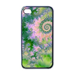 Rose Apple Green Dreams, Abstract Water Garden Apple Iphone 4 Case (black) by DianeClancy