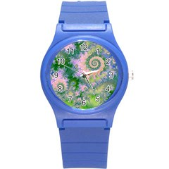 Rose Apple Green Dreams, Abstract Water Garden Plastic Sport Watch (small) by DianeClancy