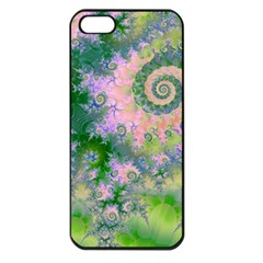 Rose Apple Green Dreams, Abstract Water Garden Apple Iphone 5 Seamless Case (black) by DianeClancy