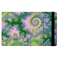 Rose Apple Green Dreams, Abstract Water Garden Apple Ipad 3/4 Flip Case by DianeClancy