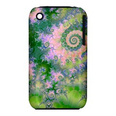 Rose Apple Green Dreams, Abstract Water Garden Apple Iphone 3g/3gs Hardshell Case (pc+silicone) by DianeClancy