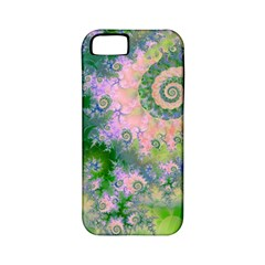 Rose Apple Green Dreams, Abstract Water Garden Apple Iphone 5 Classic Hardshell Case (pc+silicone) by DianeClancy