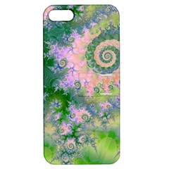 Rose Apple Green Dreams, Abstract Water Garden Apple Iphone 5 Hardshell Case With Stand by DianeClancy