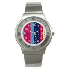 Giraffentapete Stainless Steel Watch (slim) by Siebenhuehner
