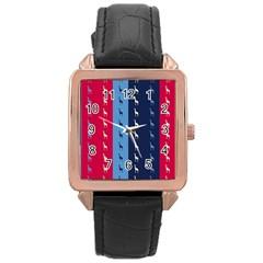 Giraffentapete Rose Gold Leather Watch  by Siebenhuehner