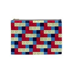 Hearts Cosmetic Bag (medium) by Siebenhuehner
