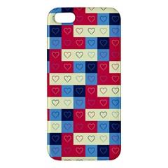 Hearts Apple Iphone 5 Premium Hardshell Case by Siebenhuehner