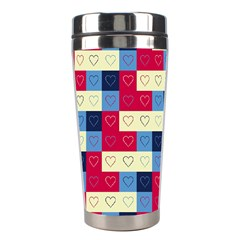 Hearts Stainless Steel Travel Tumbler by Siebenhuehner