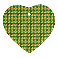 Retro Heart Ornament (two Sides) by Siebenhuehner