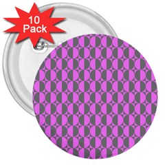 Retro 3  Button (10 Pack) by Siebenhuehner
