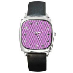 Retro Square Leather Watch by Siebenhuehner
