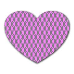 Retro Mouse Pad (heart) by Siebenhuehner