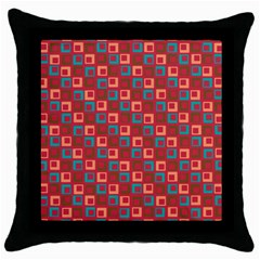 Retro Black Throw Pillow Case by Siebenhuehner