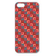 Retro Apple Seamless Iphone 5 Case (clear) by Siebenhuehner