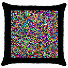 Color Black Throw Pillow Case by Siebenhuehner