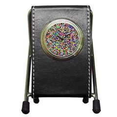 Color Stationery Holder Clock by Siebenhuehner