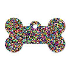 Color Dog Tag Bone (one Sided) by Siebenhuehner