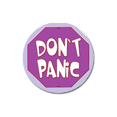 Purple Don t Panic Sign Magnet 3  (round) by FunWithFibro