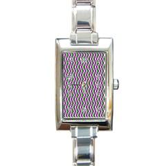 Pattern Rectangular Italian Charm Watch by Siebenhuehner