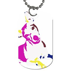 Untitled 3 Colour Dog Tag (one Sided) by nadiajanedesign