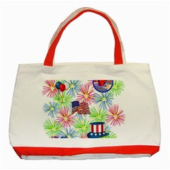 Patriot Fireworks Classic Tote Bag (red) by StuffOrSomething