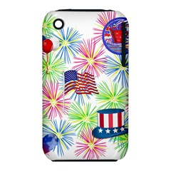 Patriot Fireworks Apple Iphone 3g/3gs Hardshell Case (pc+silicone) by StuffOrSomething