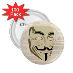 We The Anonymous People 2 25  Button (100 Pack) by StuffOrSomething