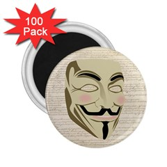 We The Anonymous People 2 25  Button Magnet (100 Pack) by StuffOrSomething