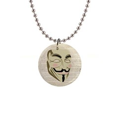 We The Anonymous People Button Necklace by StuffOrSomething