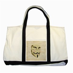 We The Anonymous People Two Toned Tote Bag by StuffOrSomething